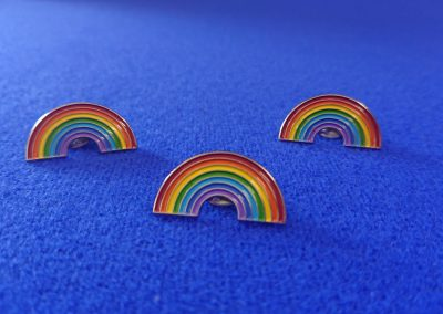 Rainbow pin badges